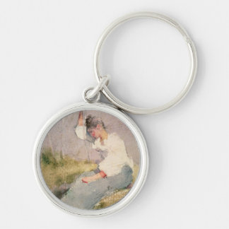 Louise, a Breton Girl (w/c on paper) Keychain
