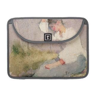 Louise, a Breton Girl (w/c on paper) MacBook Pro Sleeve