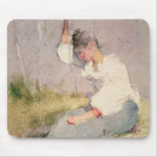 Louise, a Breton Girl (w/c on paper) Mouse Pad