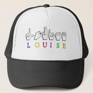 LOUISE ASL FINGERSPELLED NAME TRUCKER HAT