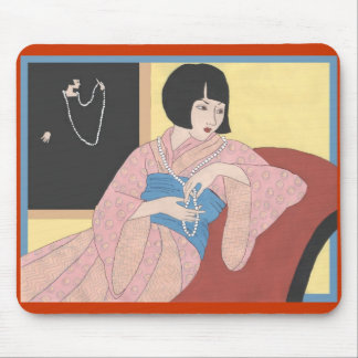 Louise Brooks' Pearls Mouse Pad