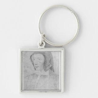 Louise de Savoie Silver-Colored Square Keychain