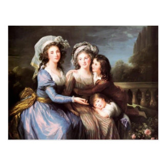 Louise Elisabeth-Marqués de Rougé con sus hijos Postales