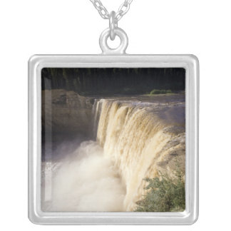Louise Falls, Twin Falls Gorge Territorial Park, Silver Plated Necklace