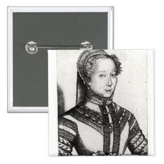 Louise Labe  La Belle Cordiere, 1555 2 Inch Square Button