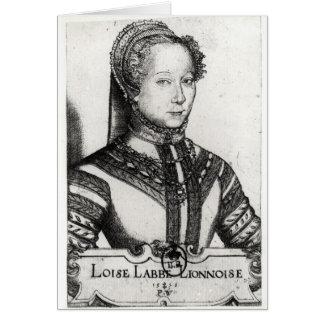 Louise Labe  La Belle Cordiere, 1555 Card