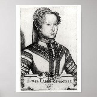 Louise Labe  La Belle Cordiere, 1555 Poster