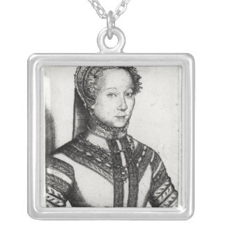 Louise Labe  La Belle Cordiere, 1555 Silver Plated Necklace