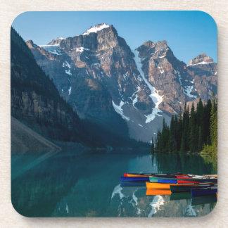Louise lake in Banff national park Alberta, Canada Beverage Coaster