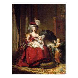 Louise Le Brun- Marie Antonieta y sus niños Postal