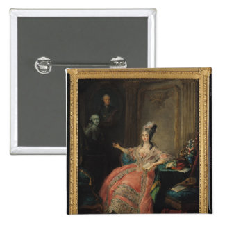Louise Marie Josephine of Savoy 2 Inch Square Button