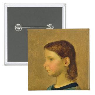 Louise Millet, c.1863 2 Inch Square Button
