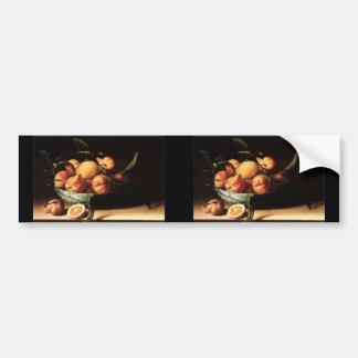 Louise Moillon's Bowl of Curacao Oranges (1634) Car Bumper Sticker
