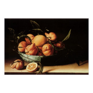 Louise Moillon's Bowl of Curacao Oranges (1634) Posters