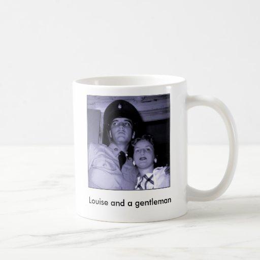 Louise y un caballero taza