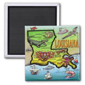 Louisiana 2 Inch Square Magnet