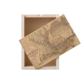 Louisiana 4 wooden keepsake box
