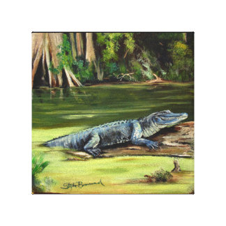 "Louisiana Alligator 10"" x 10"" canvas print"