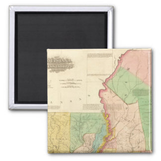 Louisiana and Mississippi 3 2 Inch Square Magnet