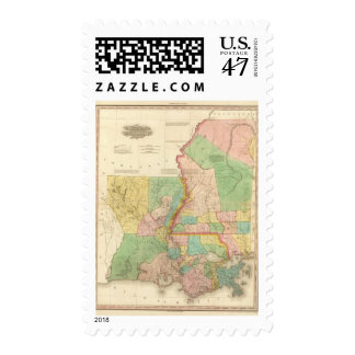 Louisiana and Mississippi 3 Postage Stamp