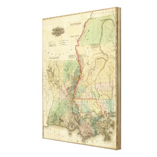 Louisiana and Mississippi Canvas Print