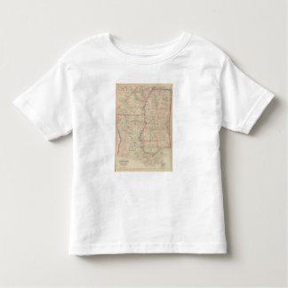 Louisiana and Mississippi T Shirt