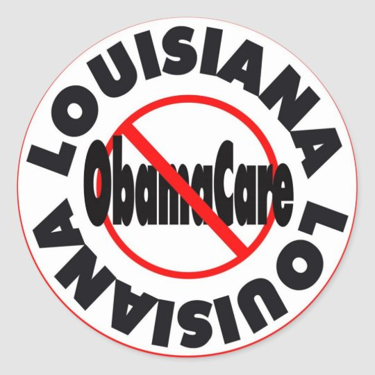 Louisiana Anti ObamaCare – November's Coming! Classic Round Sticker