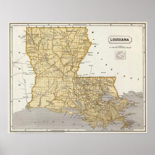 Louisiana Atlas Map Print