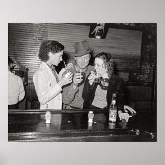 Louisiana Bar, 1938. Vintage Photo Poster
