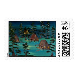 Louisiana Bayou Scene Stamps