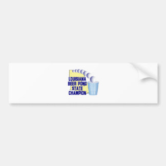 Louisiana Beer Pong Champion Bumper Sticker