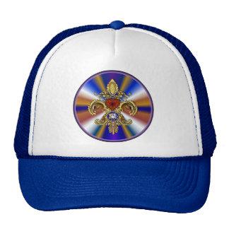 Louisiana Bicentennial Flor de lis View Hints Mesh Hat