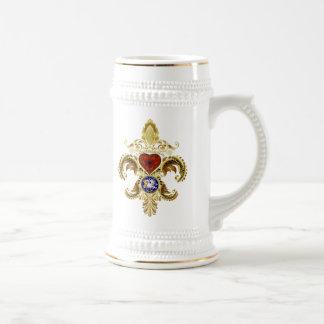 Louisiana Bicentennial Flor de lis View Hints Coffee Mugs