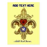 Louisiana Bicentennial Flor de lis View Hints Postcard