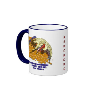 Louisiana Bicentennial Flor de lis View Hints Ringer Coffee Mug