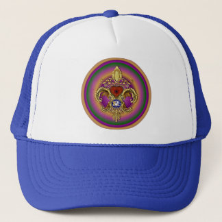 Louisiana Bicentennial Flor de lis View Hints Trucker Hat