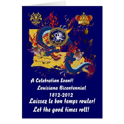 Louisiana Bicentennial Important See Notes Below Greeting Card