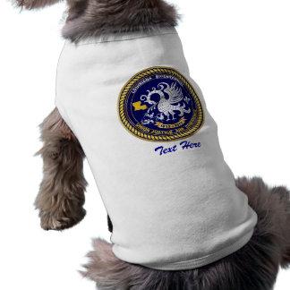 Louisiana Bicentennial Mardi Gras Logo View Hint Dog T-shirt
