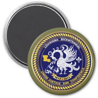 Louisiana Bicentennial Mardi Gras Logo View Hint Magnet