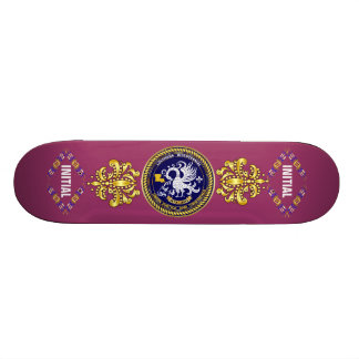 Louisiana Bicentennial Mardi Gras Logo View Hint Skate Board