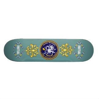 Louisiana Bicentennial Mardi Gras Logo View Hint Skateboard Deck