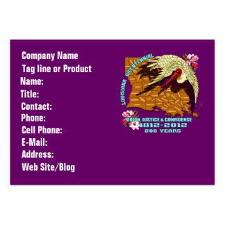 Louisiana Bicentennial Mardi Gras Party See Notes Large Business Cards (Pack Of 100)