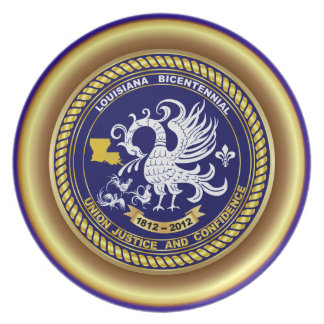 Louisiana Bicentennial Mardi Gras Party See Notes Melamine Plate