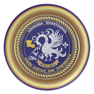 Louisiana Bicentennial Mardi Gras Party See Notes Dinner Plate