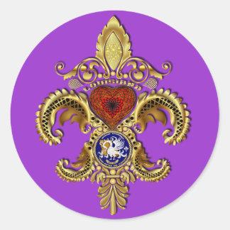 Louisiana Bicentennial Mardi Gras View Hints Classic Round Sticker