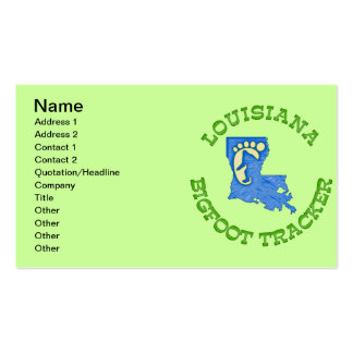 Louisiana Bigfoot Tracker Double-Sided Standard Business Cards (Pack Of 100)