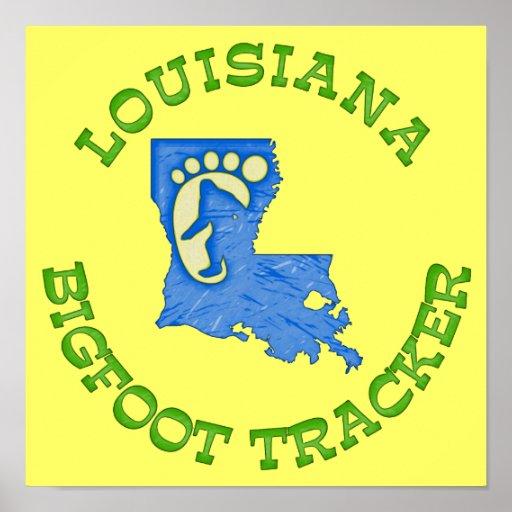 Louisiana Bigfoot Tracker Poster
