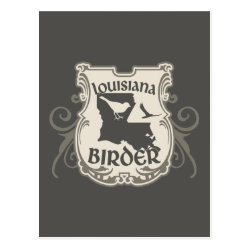 Postcard with Louisiana Birder design