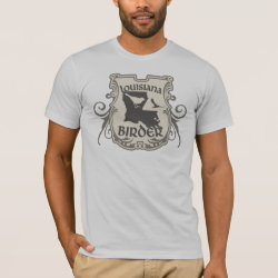Men's Basic American Apparel T-Shirt with Louisiana Birder design