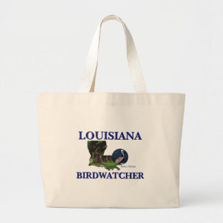 Louisiana Birdwatcher Large Tote Bag